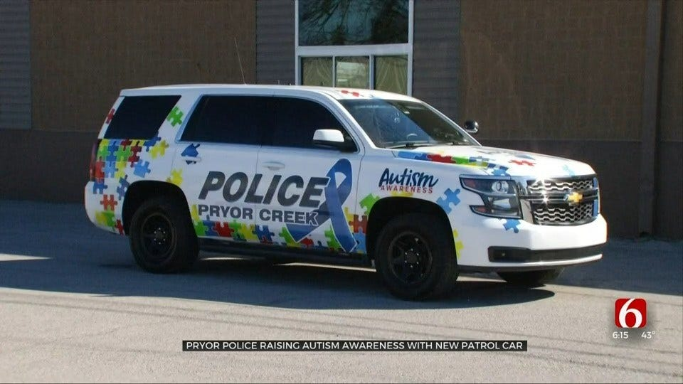 Pryor Police Department Raises Autism Awareness With Police Car