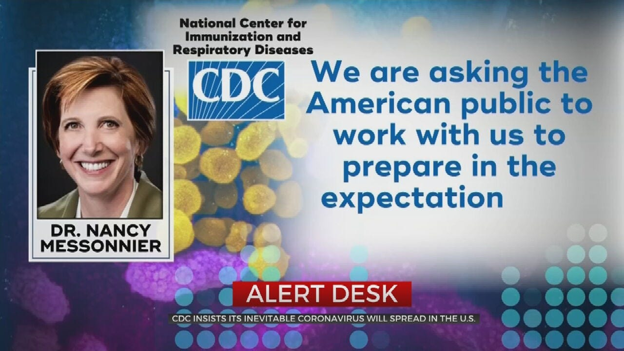 CDC Warns Coronavirus Cases Could Rise In U.S.