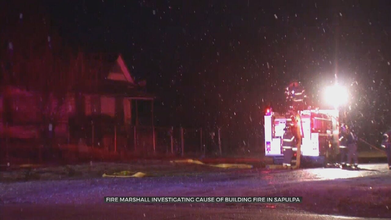 Firefighters Rescue Man From Sapulpa Building Fire