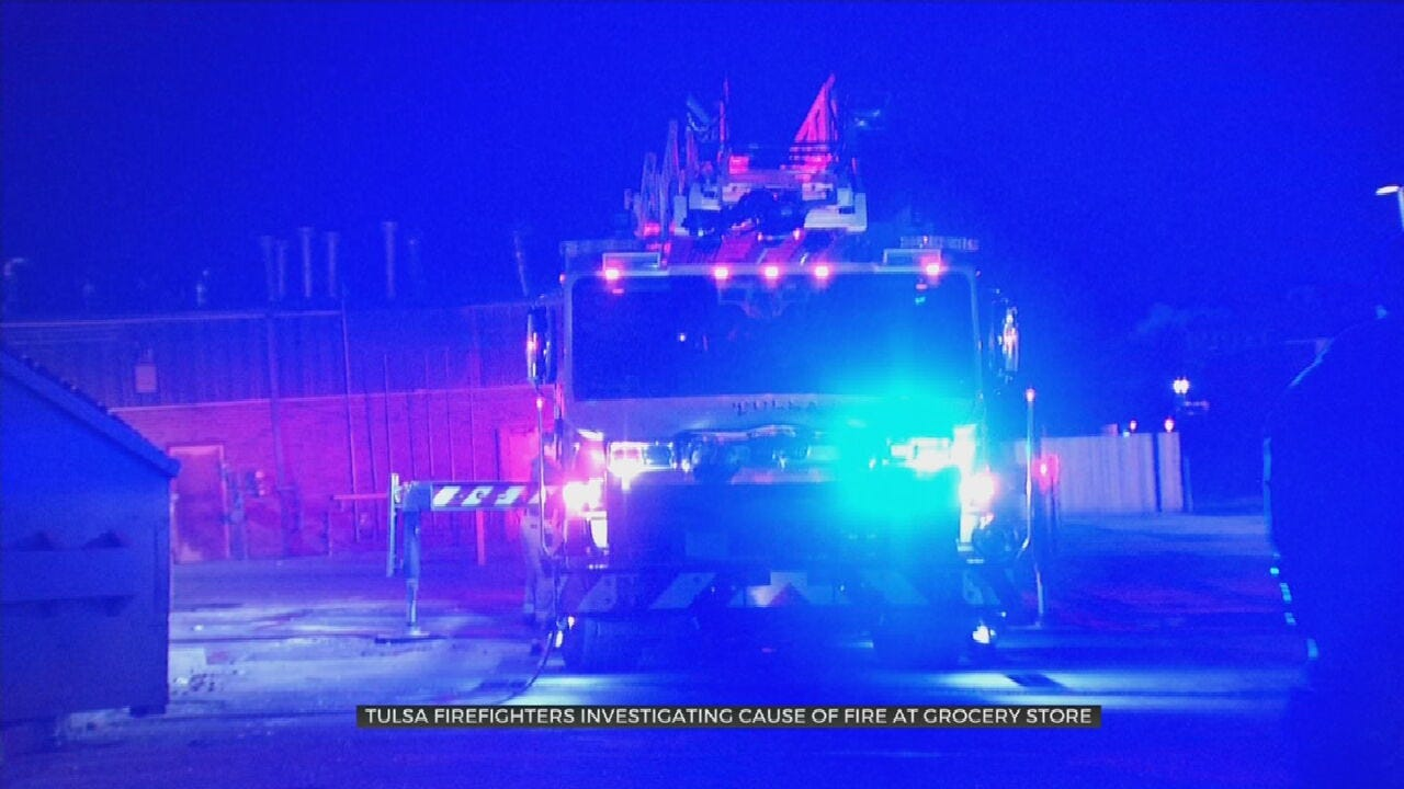 Firefighters Investigate Fire At Tulsa Grocery Store