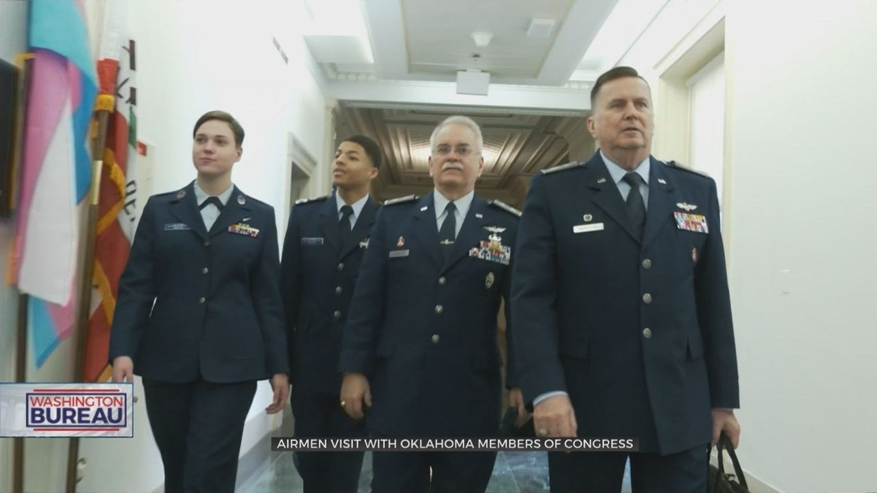 Oklahoma Airmen Visit Members Of Congress