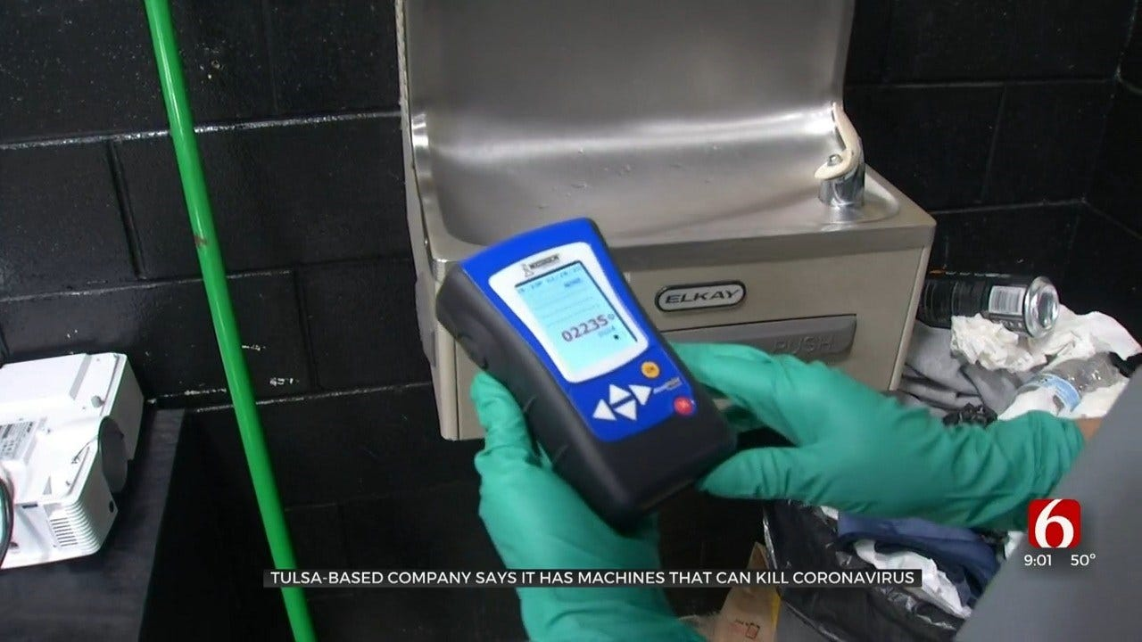 Tulsa Company Makes Machine They Say Can Keep People Safe From Coronavirus