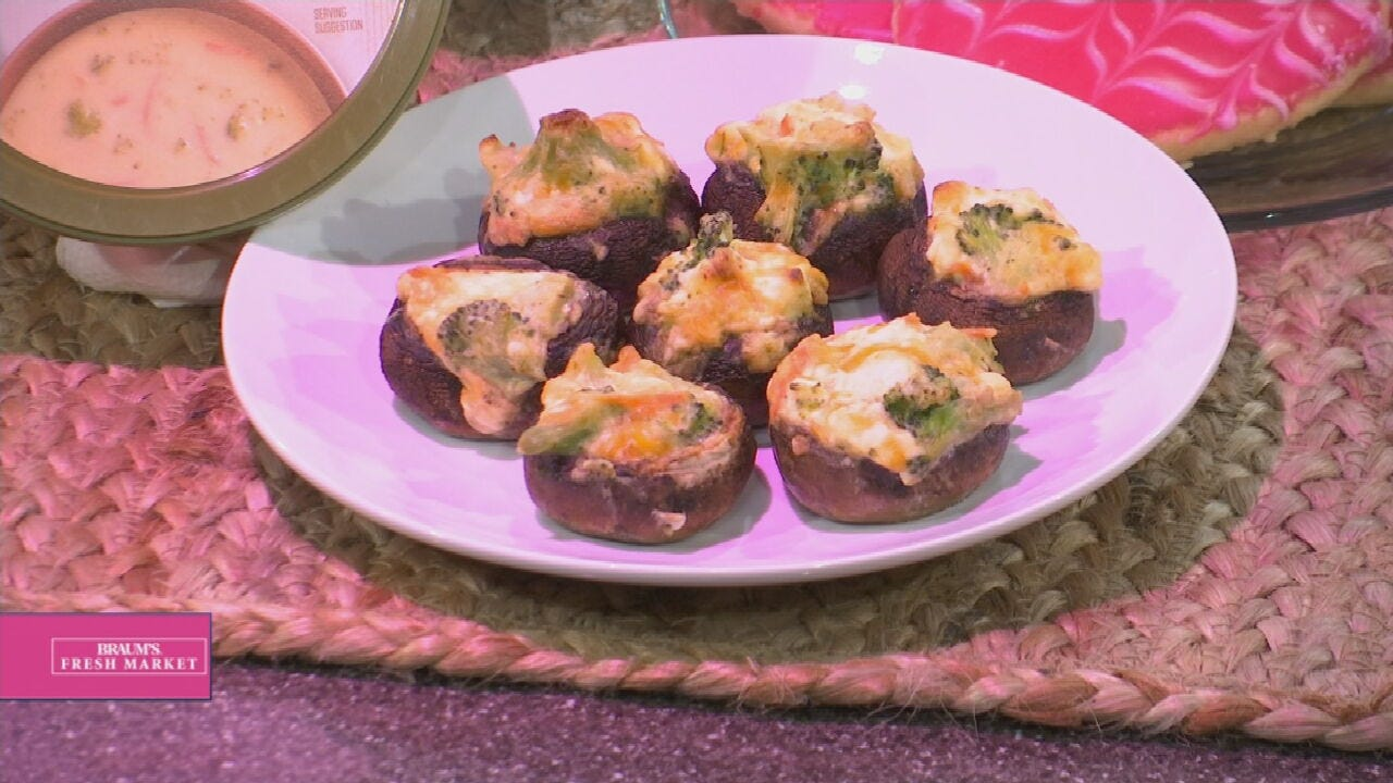 Broccoli Cheddar Stuffed Mushrooms