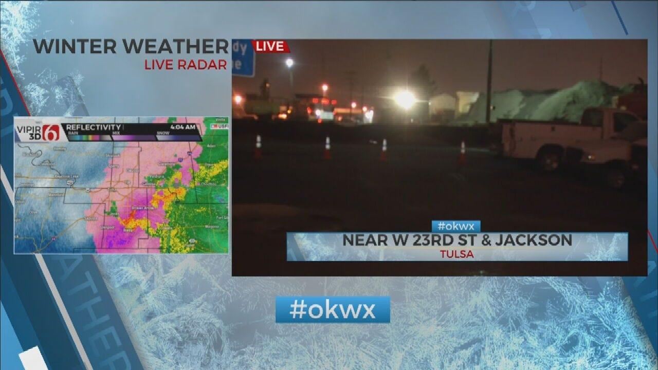 WATCH: News On 6's Reagan Ledbetter Checks Winter Weather In Tulsa Area