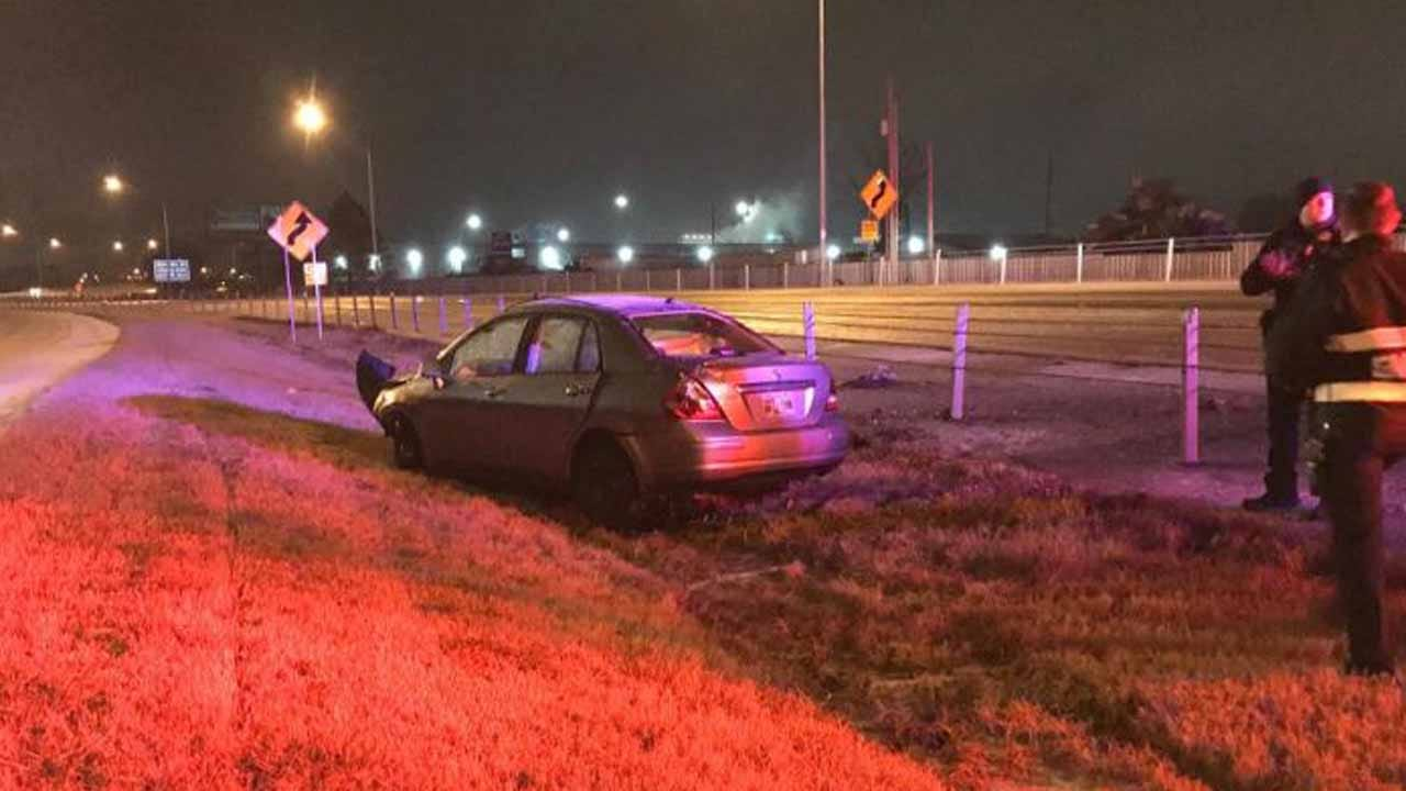 WATCH: Rollover Crash On Highway 75