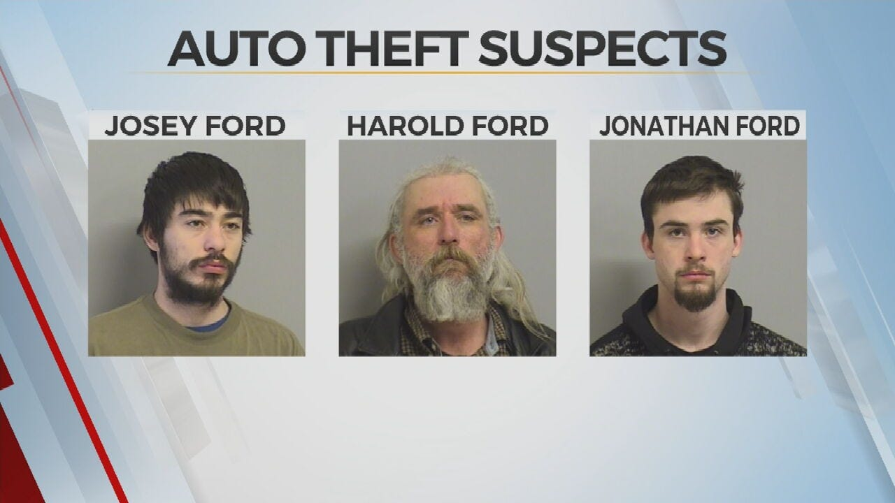 Tulsa Police: 3 Arrested, Tied To Multiple Auto Thefts