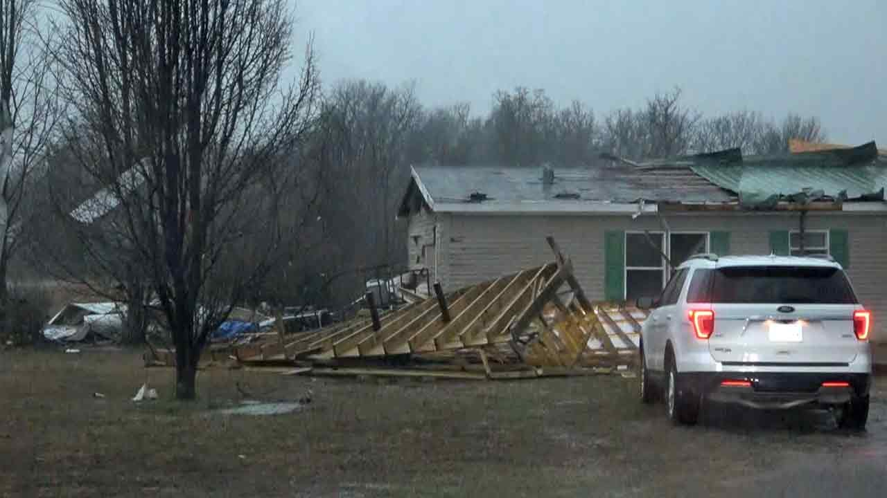 Heavy Rains, Strong Winds Move Through Eastern Oklahoma