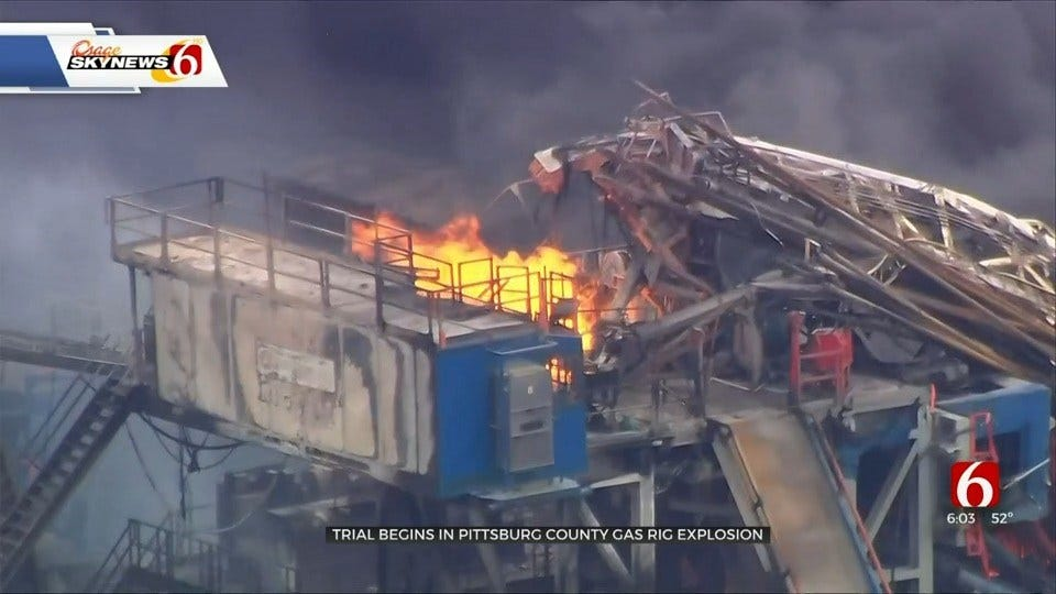 First Day Of Testimony For Quinton Gas Rig Fire, Explosion Lawsuit