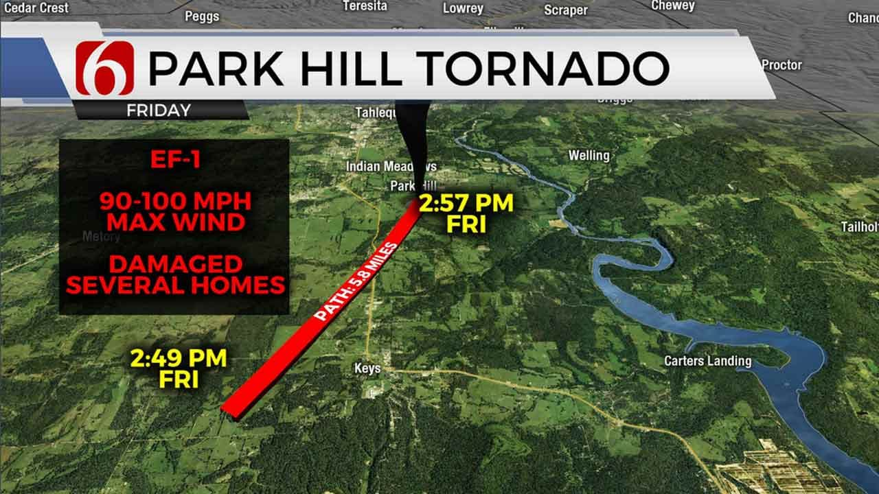 1st Oklahoma Tornado Of 2020: Cherokee County Twister Rated At EF-1