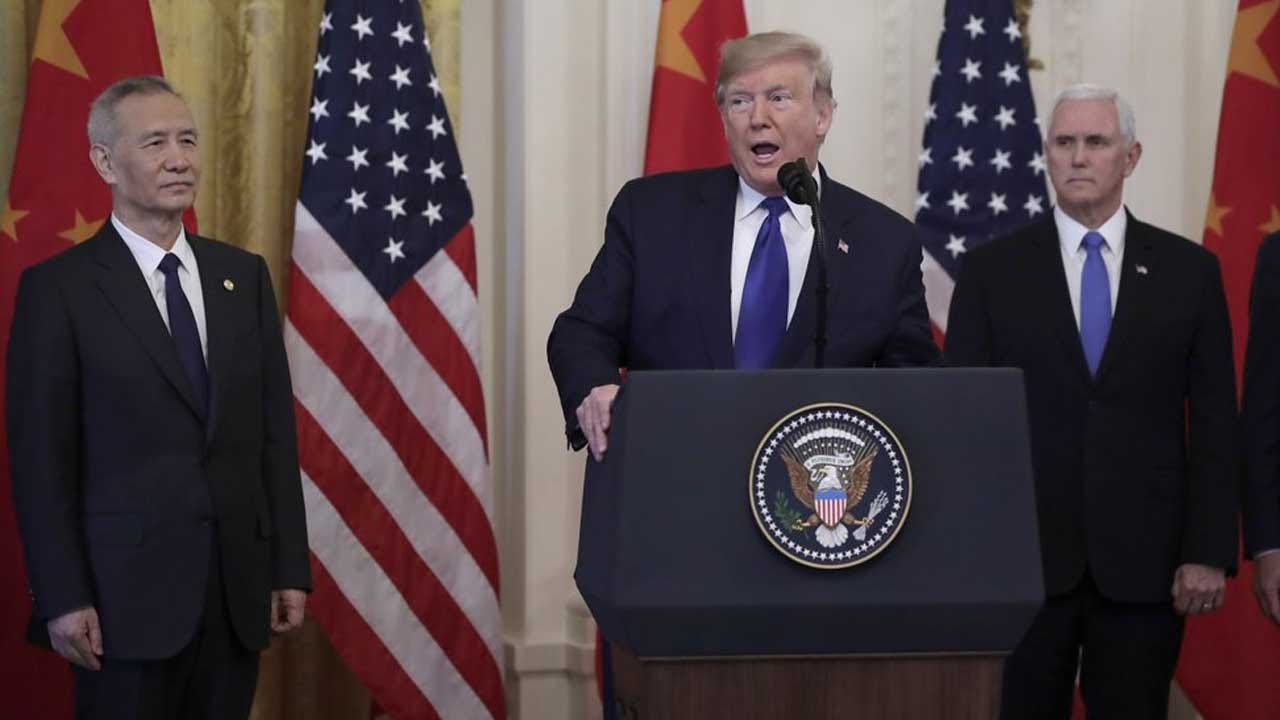President Trump Says Tariffs Remain As He Signs 'Phase One' Trade Deal With China