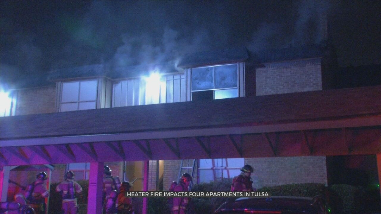 4 Families Displaced After Tulsa Apartment Fire