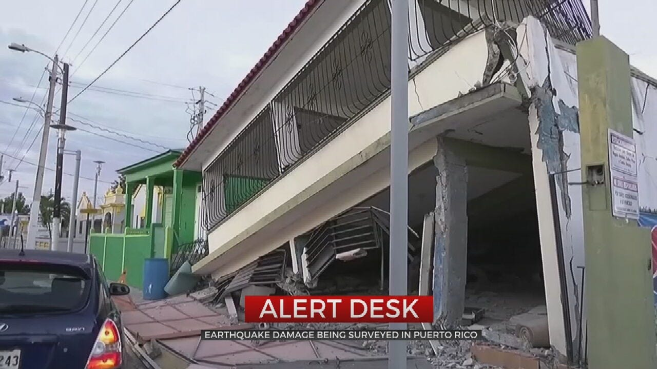Puerto Rico Under State Of Emergency After Earthquakes