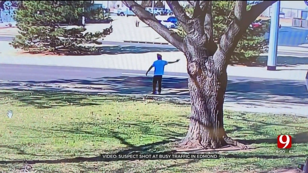 Caught On Camera: Man Shoots Into Traffic At Busy Edmond Intersection, Police Say