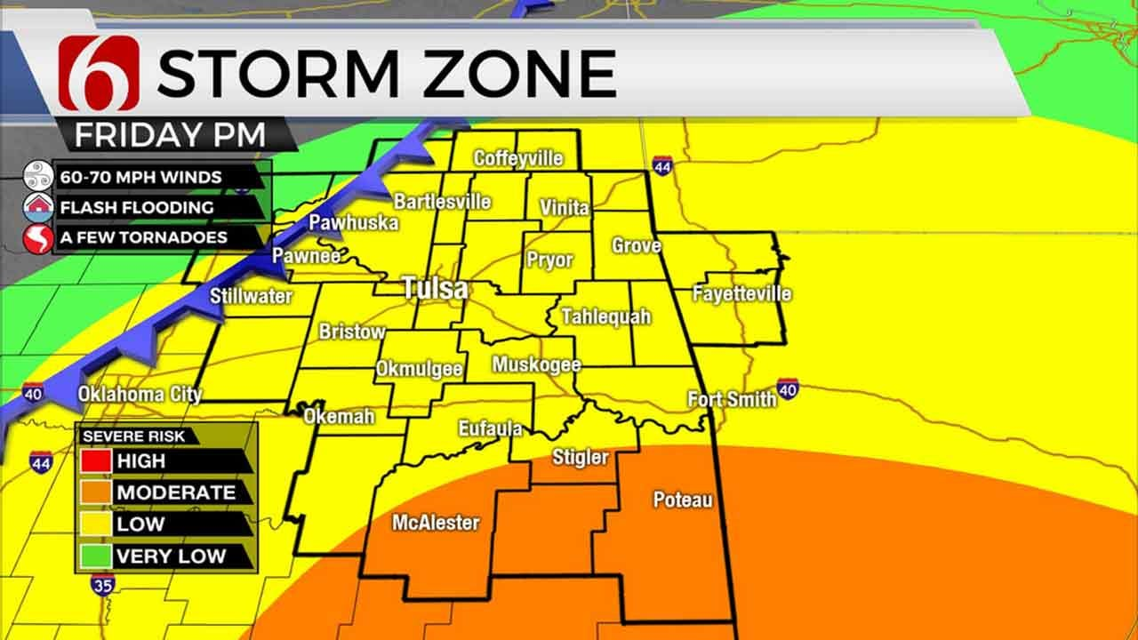 Friday To Bring Threat Of Severe Storms To Eastern Oklahoma