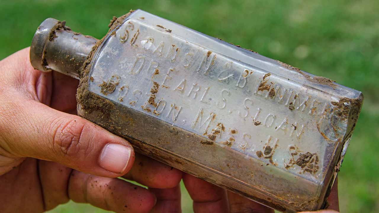 Photo of the bottle that was found.