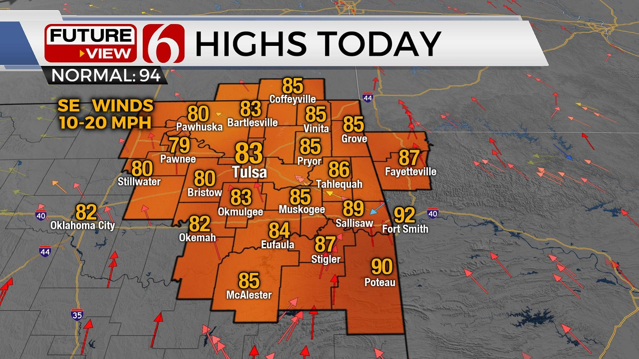 Tuesday Highs 7-28-20