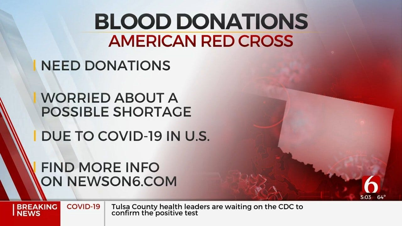American Red Cross: Donations Needed To Prevent Shortage Amid Coronavirus Outbreak