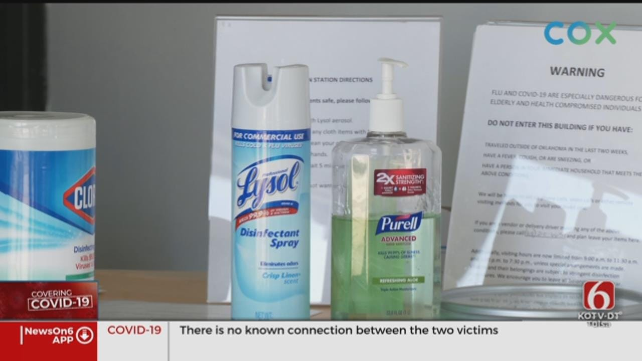 Oklahoma Nursing Homes Increase Sanitation Amid Coronavirus (COVID-19) Outbreak