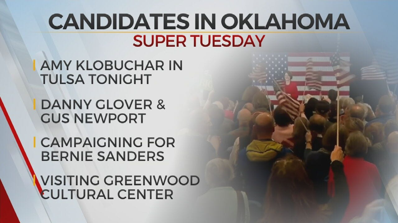 Presidential Candidates Campaign In Oklahoma Before Super Tuesday