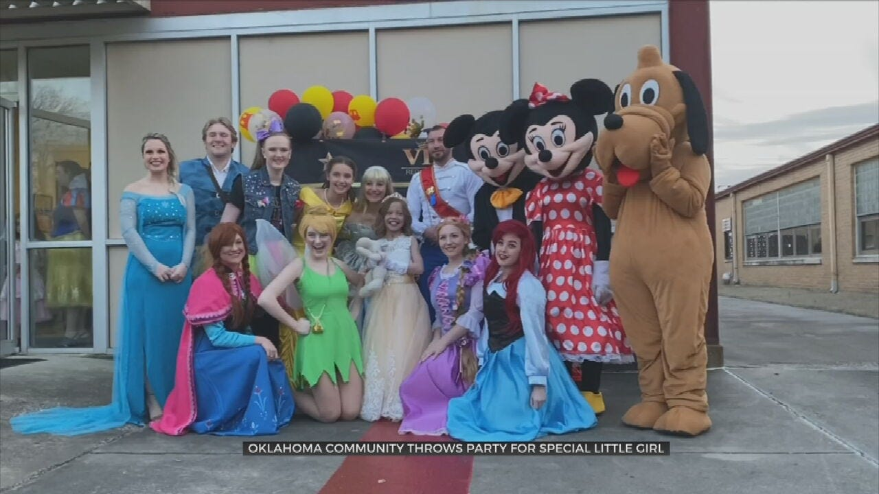 Surprise Princess Dance Party Gives Girl With Rare Heart Defect 'A Night To Remember'