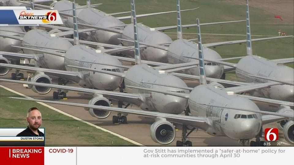 WATCH: Osage SkyNews 6 HD Flies Over More Than 50 Over Parked Planes