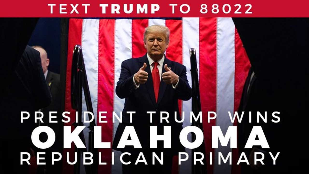 President Trump Thanks Oklahoma Voters After He Wins State's Republican Primary