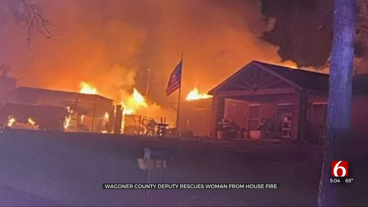 Wagoner County Deputy Praised After Saving Woman From Burning Home