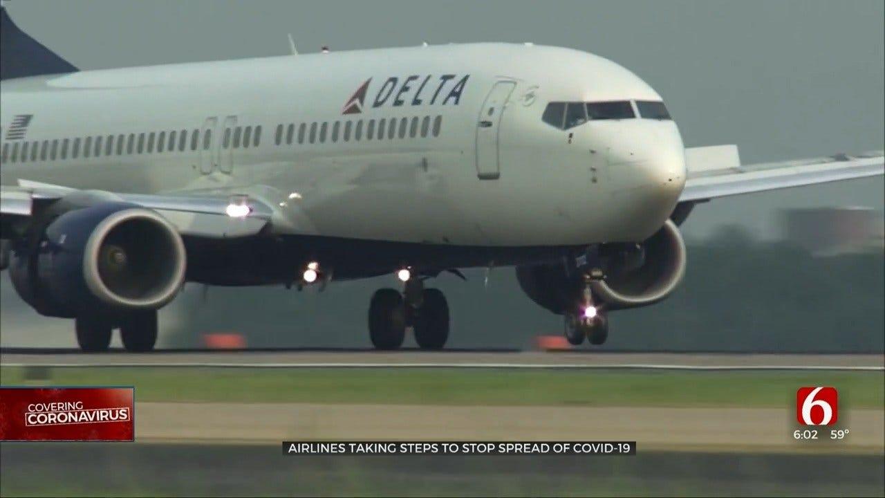 Airlines At Tulsa International Take Precaution Amid Coronavirus Outbreak
