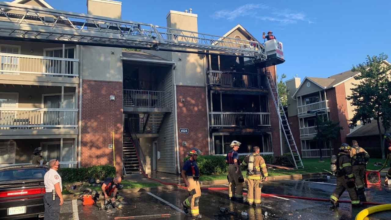 Fire At South Tulsa Apartment Complex Under Investigation