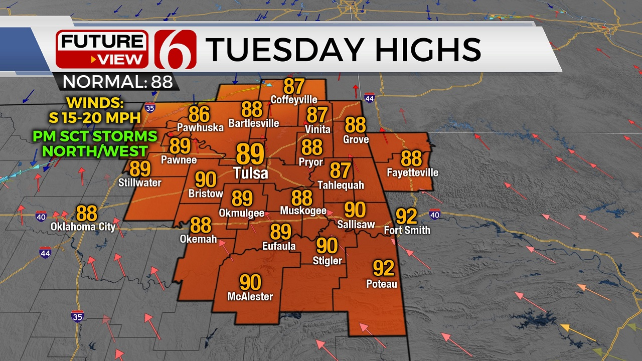 Muggy Tuesday Weather; Rain Chances Return As Very Tricky Cold Front Approaches