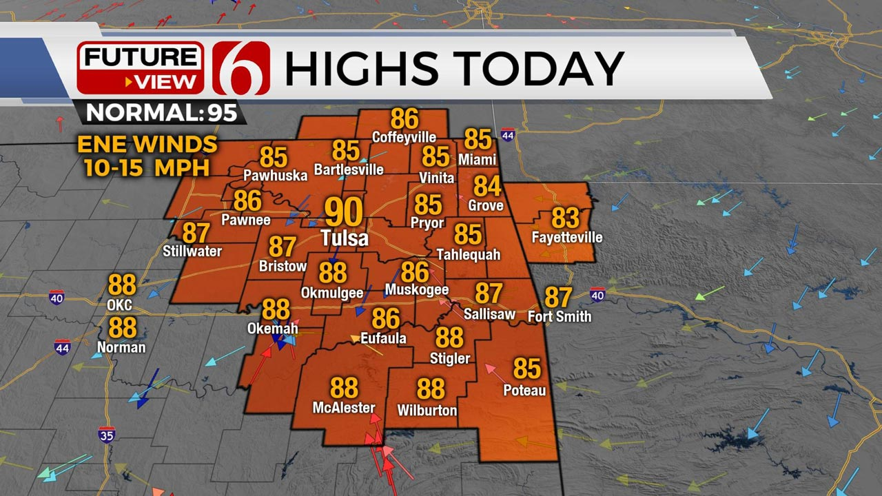 Another Hazy Day Ahead For Northeast Oklahoma