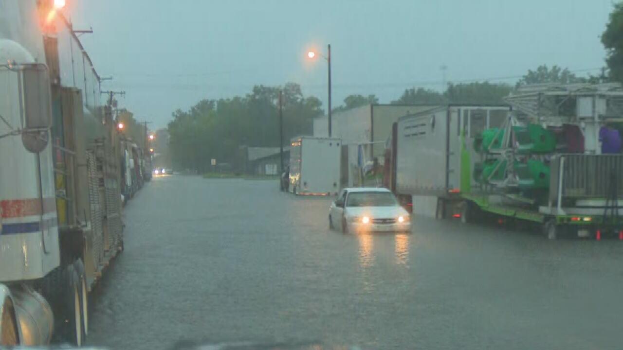 Flooding Okmulgee County