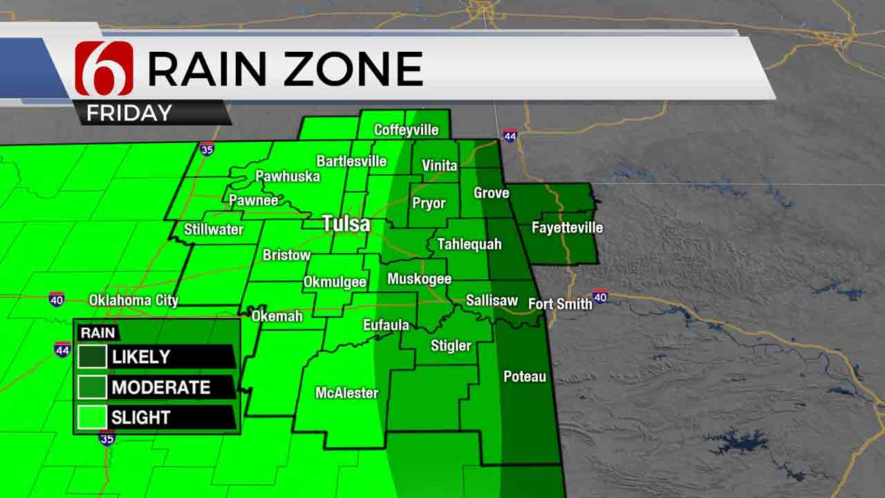 Scattered Showers Continue For Green Country