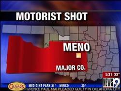 Motorist shot near Meno