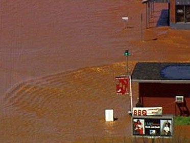 Guthrie left underwater after storms