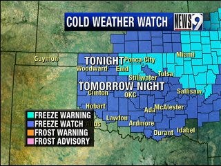 Cold weather returns to state