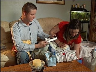 Thieves take couple's baby items