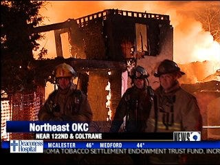 Fire consumes new home