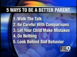 Actions speak louder than words, tips on raising your kids