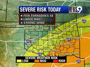 Severe Risk in State Thursday