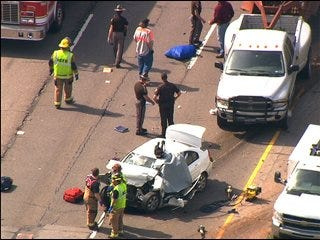 I-35 crash leaves driver dead, two men hospitalized