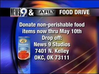 NEWS 9 food drive