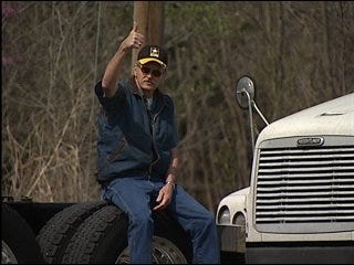 Trucker protests high fuel prices