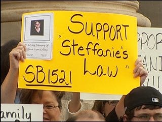 Family fights for bill on Capitol steps