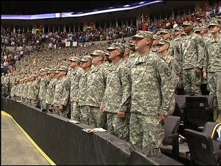 45th Fires Brigade honored before deployment