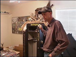Police search for stolen guns