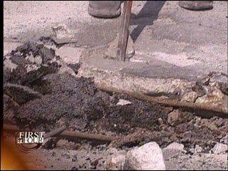 Workers make emergency repairs to I-40