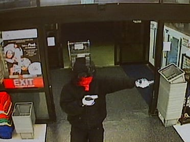 Customer nabs gunman