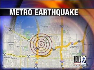 Oklahomans Feel Small Earthquake