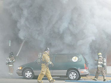 Building Fire In Downtown Okmulgee